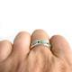 gemstone and turquoise wedding ring