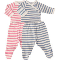 Striped Layette Set by Under the Nile