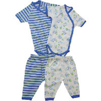 Hippo & Striped Side Snap Onesie & Trouser Set by Under the Nile