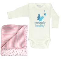 Healthy Child Healthy World Long Sleeve Set Pink