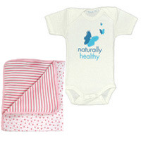 Healthy Child Healthy World Short Sleeve Set Pink