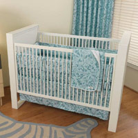 Cotton Monkey Whispering Grass Organic Baby Bedding