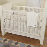 Cotton Monkey Pure White Organic Baby Bedding