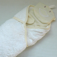 Hooded Towel and Duck Wash Cloth Set by Under the Nile