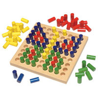 Haba Wood Colored Pegs
