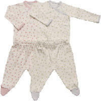 Pink & Blue Dot Side Snap Layette Set by Under the Nile