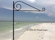 RV Sign Holder - 3 Pc USA Made ROUND Pole Sign Holder - holds our RV Name Sign Personalized Camping Signs - JGWoodSigns