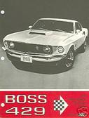 1969 69 MUSTANG BOSS 429 SALES BROCHURE