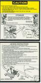 1979 1980 1981 CORVETTE JACK INSTRUCT DECAL-2 PIECE