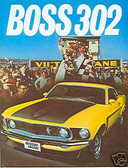 1969 69 MUSTANG BOSS 302 SALES BROCHURE