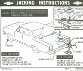1964 1965 1966 CHEVELLE JACK INSTRUCTION DECAL