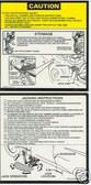 1979 1980 1981 CORVETTE JACK INSTRUCTION DECAL-2 PIECE