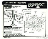 1967 EL CAMINO JACK INSTRUCTION DECAL