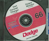 1966 DODGE CHARGER/ DART/CORONET SHOP/BODY MANUAL ON CD