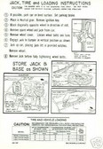 1966 DODGE CORONET/BELVEDERE JACK INSTRUCTION DECAL