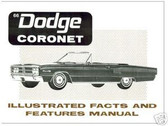 1966 66 DODGE CORONET ILLUSTRATED FACTS