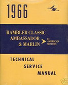 1966 AMC RAMBLER /AMBASSADOR SERIES SHOP/BODY MANUAL