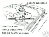 1965 OLDS 442/CUTLASS/F85 JACK & SPARE STORAGE DECAL