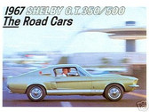 1967 67 SHELBY G.T. 350/500 SALES BROCHURE
