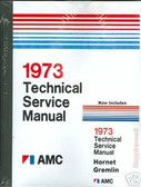 1973 AMC JAVELIN/AMX/HORNET/AMBASSADOR SHOP/BODY MANUAL