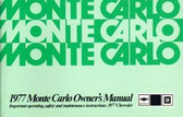 1977 CHEVROLET MONTE CARLO OWNER'S MANUAL