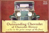 1929 CHEVROLET PASSENGER CAR SALES BROCHURE