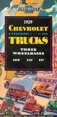 1929 CHEVROLET TRUCK SALES BROCHURE-1/2 & 1 1/2 TON