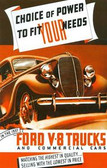 1937 FORD V-8 TRUCKS & COMMERICAL CARS SALES BROCHURE-60 & 85 HP
