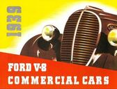 1939 FORD V-8 COMMERICAL CARS (TRUCKS) SALES BROCHURE-60 & 85 HP