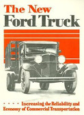 1932 FORD TRUCK SALES BROCHURE- 4 CYLINDER-50 HP