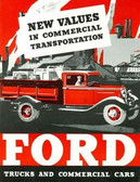 1933 FORD TRUCKS & COMMERICAL CARS SALES BROCHURE-75 HP V-8 & 50 HP 4 CYLINDER