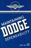 1940 DODGE PASSENGER CAR OWNER'S MANUAL