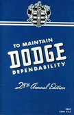 1942 DODGE PASSENGER CAR OWNER'S MANUAL