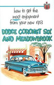 1953 DODGE CORONET SIX & MEADOWBROOK PASSENGER CAR OWNER'S MANUAL