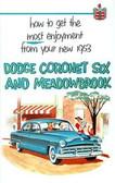 1953 DODGE CORONET SIX & MEADOWBROOK PASSENGER CAR OWNER'S MANUAL