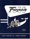 1948 49 50 51 52 FERGUSON TRACTOR OWNER'S MANUAL-TO-30