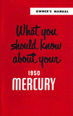 1950 MERCURY OWNERS MANUAL