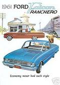 1961 FORD FALCON RANCHERO PICKUP SALES BROCHURE