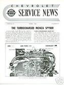 1962 CORVAIR TURBOCHARGED MONZA SPYDER SHOP SUPPLEMENT