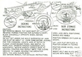 1967 COUGAR/XR-7 JACK INSTRUCTION DECAL
