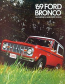 1969 FORD BRONCO SALES BROCHURE