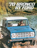 1970 FORD BRONCO SALES BROCHURE