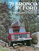 1971 FORD BRONCO SALES BROCHURE