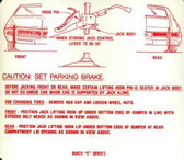 1969 BUICK RIVIERA JACK INSTRUCTION DECAL