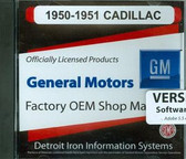1950 51 CADILLAC SHOP/BODY /PARTS MANUAL ON CD