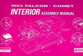 1963 63 FORD FALCON INTERIOR ASSEMBLY MANUAL
