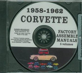 1958 59 60 61 62 CORVETTE ASSEMBLY MANUAL ON CD