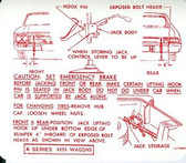 1966 BUICK SPECIAL, SKYLARK, X-WAGON JACK INSTRUCTION DECAL