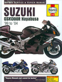 1999 2000 01 02 03 04 SUZUKI GSX1300R HAYABUSA SHOP MANUAL-HARD COVER