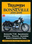 2001 02 03 04 05 06 07 08 TRIUMPH BONNEVILLE ROAD TEST PORTFOLIO